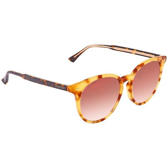 NEW * Gucci GG0195sk semi-round havana shades NWOT
